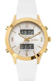 Relógio Condor Digital Feminino - Feminino-Dourado
