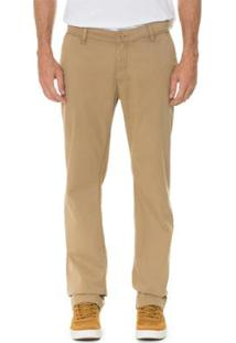 Calça Timberland Chino Squam Lake Stretch Twill Straight Masculina - Masculino-Bege