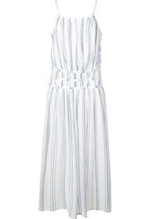 Frame Gathered Waist Dress - Branco