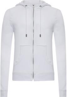Blusa Masculina Moletom Piquet - Branco
