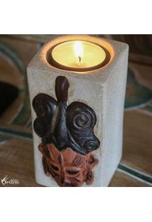 Porta-Vela Em Cerâmica African