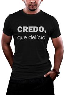 Camiseta Hunter Brisa Louca Credo Que Delícia Preta