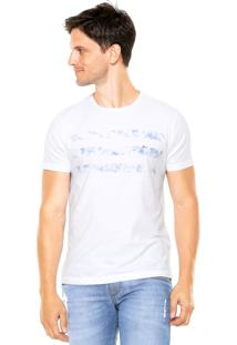 Camiseta Aramis Regular Fit Listras Branca