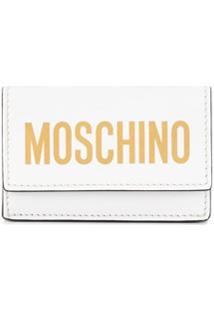 Moschino Carteira Com Estampa De Logo - Branco