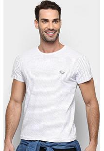 Camiseta Rg 518 Listrada Masculina - Masculino-Branco