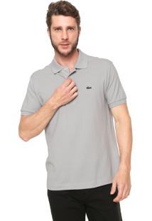 692764869e3ef ... Camisa Polo Lacoste Classic Fit Cinza