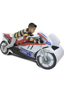 Mini Cama Carro Moto Ninja Branco - Tricae