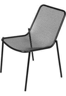 Cadeira Luma Sem Braco Com Pintura Epoxi Cor Preta - 61000 - Sun House