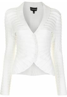 Emporio Armani Blazer Com Acabamento Ondulado - Branco