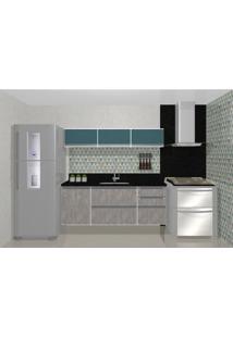 Cozinha Modulada Embut - 1,80M - 5 Básculas - 3 Gavetas - 1 Porta
