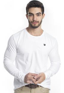 Camiseta Tony Menswear De Algodão Branca