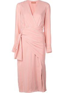 Altuzarra Metallic Striped Dress - Rosa