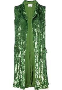 P.A.R.O.S.H. Colete Com Paetês - Verde