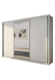 Guarda Roupa Novo Horizonte Paradizzo Plus Espelho 3 Portas Branco
