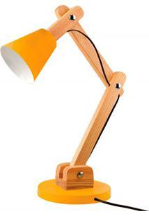 Luminária De Mesa Para 1 Lâmpada Bivolt Cone Citrus