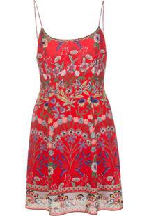 Alice+Olivia Vestido Curto Com Estampa De Flores - Vermelho