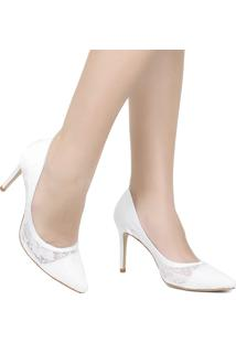 Sapato De Noivas Scarpin Zariff Telha