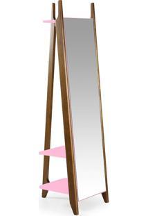 Espelho Stoka 169,5 Cm 988 Nogal/Rosa Cristal - Maxima