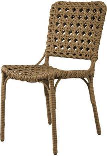 Cadeira Bell Assento Em Fibra Sintetica Cor Madeira Com Base Aluminio - 44538 - Sun House