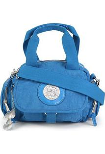 Bolsa Snoopy Shopper Pequena Com Bag Charm Feminina - Feminino-Azul