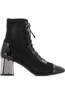 Casadei Ankle Boot 'Daytime' De Couro - Preto
