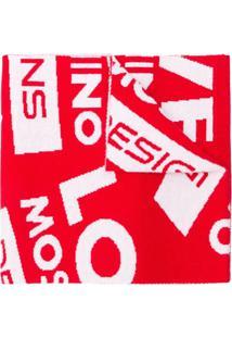 Love Moschino Cachecol Com Logo De Cashmere - Vermelho