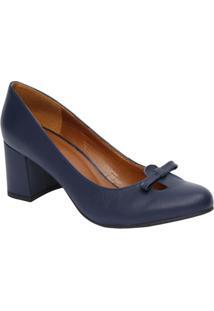 ebe62b640c Privalia. Sapato Com Salto Azul Marinho Caramelo Feminino ...