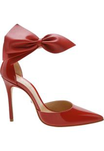 Scarpin Maxi Bow Verniz Red | Schutz