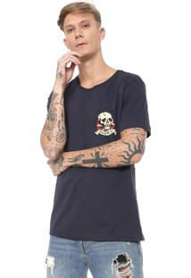 Camiseta Ed Hardy Death Or Glory Azul-Marinho