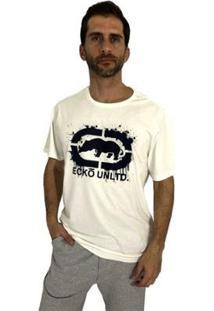 Camiseta Ecko Estampada Masculina - Masculino-Off White