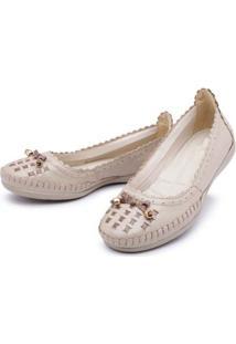 Sapatilha Feminina Top Franca Shoes Conforto - Feminino-Marfim