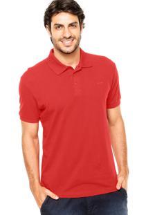 Camisa Polo Sommer Básica Bordado Vermelha