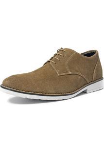 Sapato Oxford Salazari Em Couro Creme