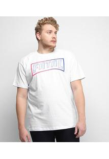 Camiseta Fatal Logo Ice Plus Size Masculina - Masculino-Branco