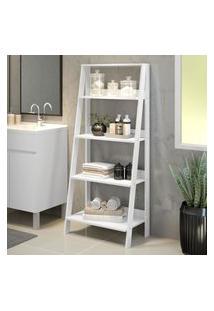Estante Organizadora Multiuso Para Banheiro Com 4 Prateleiras Madesa - Branco Branco