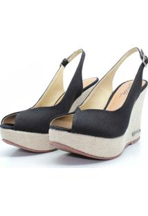 Sandalia Barth Shoes Lolita Lona - Preto