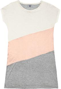 Camisola Curta Feminina Color Block