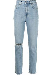 Nobody Denim Calça Jeans Boyfriend Com Efeito Destroyed - Azul