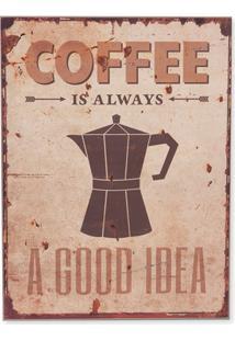 Quadro Em Madeira Coffee 40X30Cm