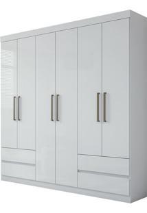 Guarda Roupa Zeus Plus 6 Portas Branco