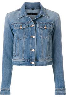J Brand Jaqueta Jeans Cropped - Azul