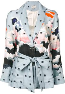 Temperley London Blazer 'Cloud' - Azul
