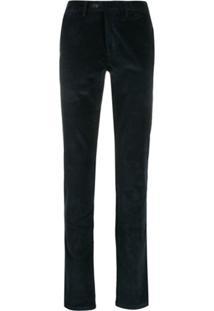 Canali Corduroy Trousers - Azul