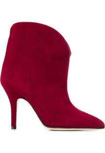 Paris Texas Ankle Boot De Camurça - Vermelho