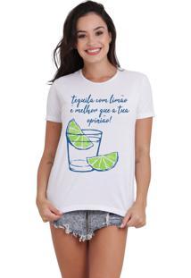 Camiseta Feminina Joss Tequila Com Limão Branca - Kanui