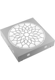 Plafon Quadrado Árabe Branco 6000K Luz Branca