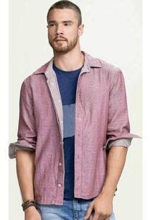 Camisa Masculina Hering Em Modelagem Slim E Dupla Face