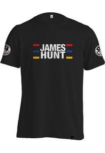 Camiseta Fórmula Retrô James Hunt Capacete - Masculino