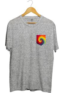 Camiseta Bsc Tie Dye Pocket - Masculino-Cinza