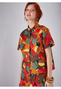 Camisa Manga Curta Estampada Fruteira Bela Gil